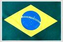 世界の国旗 ミニタオル・ハンドタオル ブラジル国旗柄(素早い吸水・速乾のマイクロファイバー生地)ミニメガネ拭き…