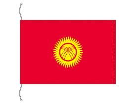 キルギス 国旗 卓上旗 旗サイズ16×24cm テトロントロマット製 日本製 世界の国旗シリーズ