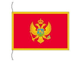モンテネグロ 国旗 卓上旗 旗サイズ16×24cm テトロントロマット製 日本製 世界の国旗シリーズ