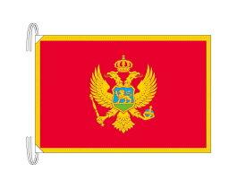 モンテネグロ 国旗 Lサイズ 50×75cm テトロン製 日本製 世界の国旗シリーズ