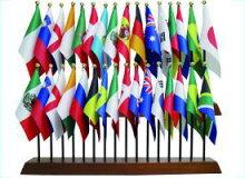 2014サッカーワールドカップブラジル大会出場32カ国ミニフラッグ国旗セット・あす楽対応