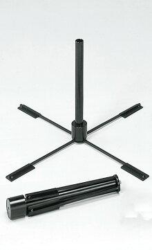 のぼり旗用ポールスタンド折りたたみ式置据型黒