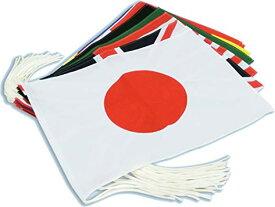 テトロン製・万国旗20カ国セット[M判・34×50cm]安心の日本製