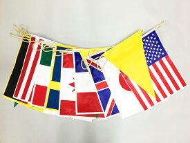 防水タイプ 万国旗 10ヵ国+三角旗11枚 連続旗 約10m[ターポリン製]