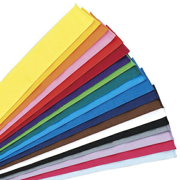 運動会 カラーハチマキ 全19色 120×4cm 1本単位 木綿 日本製