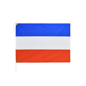 セルビア・モンテネグロ 国旗 (2003-2006年) 70×100cm 木綿製 日本製 旧国旗掘り出し物シリーズ