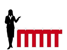 店頭装飾紅白幕[ポリエステルポンジ・H70cm×W360cm/2間]安心の日本製