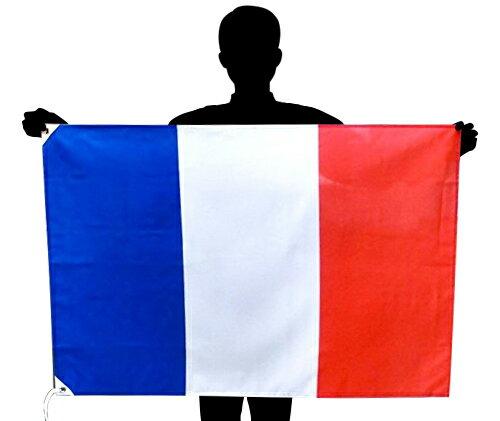 フランス国旗・トリコロール[70×100cm・ポリエステル100%]あす楽対応
