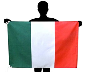 イタリア国旗・トリコローレ[70×105cm・ポリエステル100%]