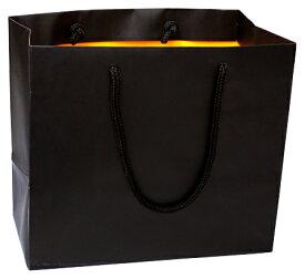 引き出物 紙袋 結婚式 ブライダルバッグ ブラック/オレンジ(小) OR おしゃれ 丈夫 引出物 引き出物袋 持ち帰り用 手提げ 披露宴 ペーパーバッグ ギフトバッグ マチ広
