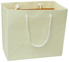引き出物 紙袋 結婚式 ブライダルバッグ クリーム/オレンジ(小) OR おしゃれ 丈夫 引出物 引き出物袋 持ち帰り用 手提げ 披露宴 ペーパーバッグ ギフトバッグ マチ広