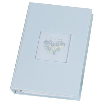 Paper out of the guest card file heart blue [message book] wedding ceremony reception desk good reputation book guest book card