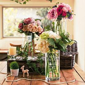 両親記念品 Thanksful Flower Vase サンクスフルフラワーベース リース/フラッグ/ノーブル 花瓶 名入れ ウェディング 結婚式 パーティ 受付 新郎新婦 記念日 日数【返品不可】【キャンセル不可】