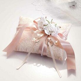 ドラマティックリングピロー RP13(手作りキット)手芸キット Panami(パナミ)バラ ローズ レース リボン 縫製済み 手芸 クラフト