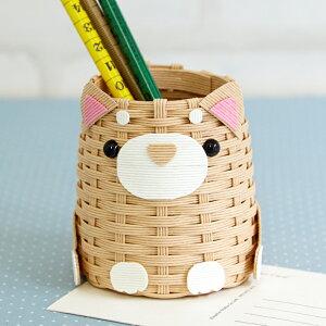 柴犬のペン立て 手作りキット ハマナカ ハンドメイド 編み物 夏休み 自由研究 子供 こども手芸 工作 ゆうパケット 送料無料