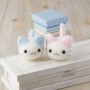 羊毛フェルト キット 猫 初心者向け Pastelにゃんころ ネコ はっとりみどり 簡単 手作りキット ハマナカ 手芸 ゆうパケット 送料無料