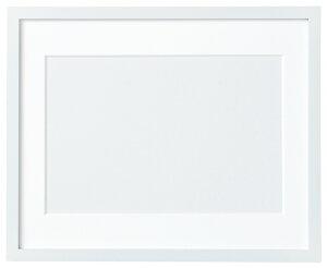 額 額縁 木製フレーム 内寸:29.5×23.4cm ホワイト マット紙 ひも付 オリムパス フレーム 枠 四角 刺繍 ウェルカムボード 刺しゅう ししゅう 手芸 ハンドメイド 手作り クロスステッチ W-45