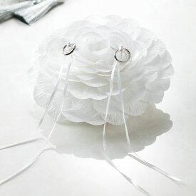 リングピローFiore(フィオーレ)≪ホワイトA≫(手作りキット)手芸キット Panami(パナミ)花びら 花 フラワー ゆうパケット 送料無料