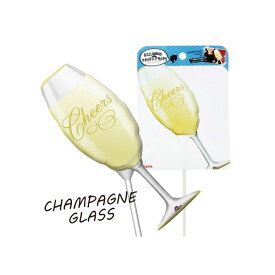 バルーンフォトプロップス シャンパングラス 演出アイテム バルーン 風船 スティック 写真 誕生日 パーティー フォト 乾杯