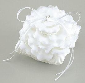 エンジェル クッションフラワータイプリングピローホワイト(手作りキット) 手芸 結婚式 挙式 教会式 人前式 プレゼント