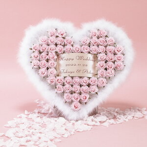 ウェルカムオブジェ 結婚式 プチギフト ハートファー ピンク 55個セット チョコ イチゴ 苺 お菓子 美味しい バラ 薔薇 ローズ 造花 フラワー おしゃれ かわいい 人気 ウエルカムオブジェ 挙式