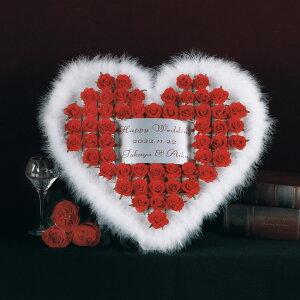 ウェルカムオブジェ 結婚式 プチギフト ハートファー レッド 55個セット チョコ イチゴ 苺 お菓子 美味しい バラ 薔薇 ローズ 赤 造花 フラワー おしゃれ かわいい 人気 ウエルカムオブジェ