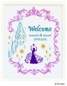 ディズニー ウェルカムボード アナと雪の女王 刺しゅうキット 23.4×29.5cm ウエディング オリムパス 手芸用品 クラフト 刺繍 手作り クロスステッチ Frozen Disney Series No.7468 ゆうパケット送料250円