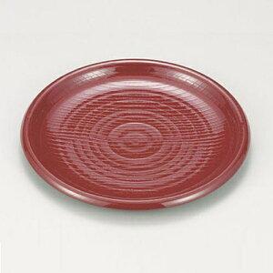 7寸木目乱筋多用皿 朱 Z408-52ざる蕎麦 ざるソバ ざるそば 蕎麦皿 皿 お皿 器 食器 業務用 業務用食器