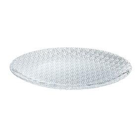 MILLEFIORIプレート280 DKC-08302 6枚入り Z804-184ガラス製品 皿 ガラス皿 透明 おしゃれ 居酒屋 飲食店 業務用 業務用食器