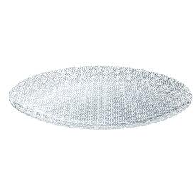 MILLEFIORIプレート320 DKC-08301 3枚入り Z804-185ガラス製品 皿 ガラス皿 透明 おしゃれ 居酒屋 飲食店 業務用 業務用食器