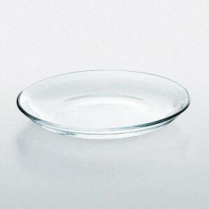 プレート21 P-19305 3枚入り 138-10270(Z810-188)ガラス製品 皿 透明 おしゃれ 飲食店 業務用 業務用食器