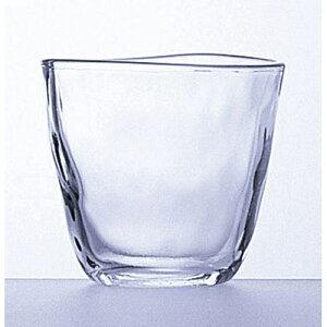 てびねりフリーカップ(P-6690) 3個入り 184-10149(Z827-115)グラス コップ 透明 飲食店 業務用 業務用食器