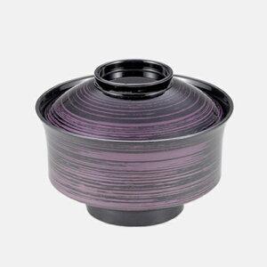 万寿椀 紫かすり 350-22342(Z353-143)汁椀 汁碗 味噌汁椀 お椀 おわん 割れにくい 軽い 軽量 蓋付き 業務用 業務用食器 旅館