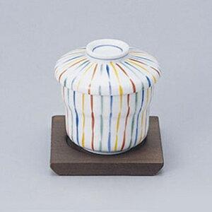 マユ型蒸碗 十草 610-21003(Z626-192)蒸し椀 むし椀 茶碗蒸し 和食器 柄 ストライプ 業務用 業務用食器