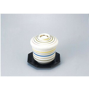 新マユ型蒸碗 6本線アイボリー 5個入 610-21005(Z626-144)むし椀 蒸し椀 茶碗蒸し 和食器 業務用食器 業務用