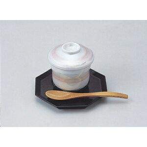マユ型蒸碗 ピンクラスター 610-21004(Z626-193)むし椀 蒸し椀 茶碗蒸し 和食器 業務用 業務用食器