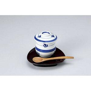 新腰丸蒸碗 太呉須巻 610-21011(Z626-198)和食器 茶碗蒸し 茶わん蒸し 柄 食器 業務用食器
