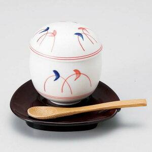 玉子型蒸碗 三日月紋 Z628-171茶碗蒸し 茶碗蒸し器 茶碗蒸しの器 蒸し椀 器 食器 おしゃれ 業務用 業務用食器
