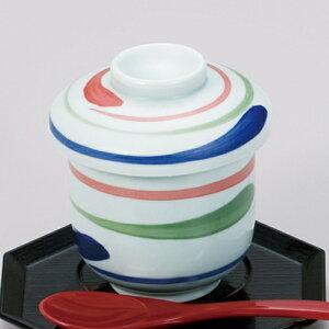 腰丸碗 三色八ケ目 610-21053(Z629-149-2)茶碗蒸し 茶碗蒸し器 茶碗蒸しの器 蒸し椀 器 食器 おしゃれ 業務用 業務用食器