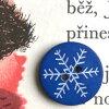 フランス製ボタン18mmマット雪印-ブルーAH