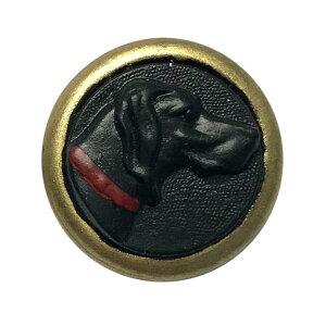 ドイツ レジンシャンクボタン猟犬の横顔 ブラック JK グレートデン 黒ラブ ラブラドール