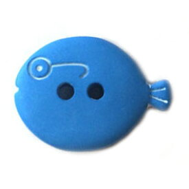 フランス製 ボタンメガネのお魚M ブルー AH