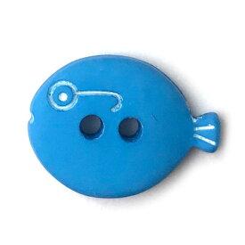フランス製 ボタンメガネのお魚S ブルー AH