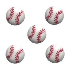 アメリカ ボタンガローア ボタン 5個セット 野球ボールL
