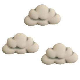 アメリカ ボタンガローア ボタン3個セット クラウド 雲