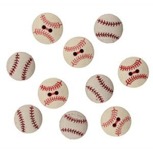 アメリカ ボタンガローア ボタン10個セット 野球ボール