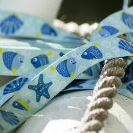 ドイツ FB社 刺繍リボン 1m 海の仲間たち