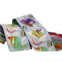 アメリカデザイン 刺繍リボン1ヤード アリスのお茶会とうさぎ グリーン RR