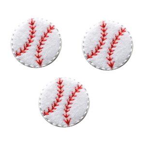 アップリケワッペン 野球ボール フェルト 3枚 UI