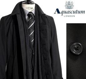 Aquascutum【アクアスキュータム】定価151,200円(税込)◆50%OFF◆日本製撥水加工ステンカラーコートブラック
